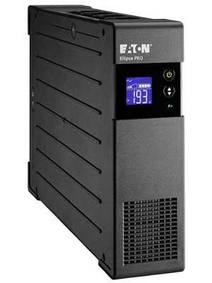 Eaton Ellipse PRO 1200 DIN - Fuente de alimentación ininterrumpida (SAI) 1200 VA con protección de sobrevoltaje (8 salidas Schuko) y regulación de voltaje (AVR)