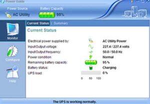 El software de monitorización de SAI Powermaster