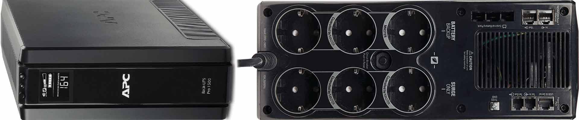 """APC BR1500G-GR Back-UPS PRO - Sistema de alimentación ininterrumpida SAI 1500VA (6 tomas """"Schuko"""", AVR, USB"""