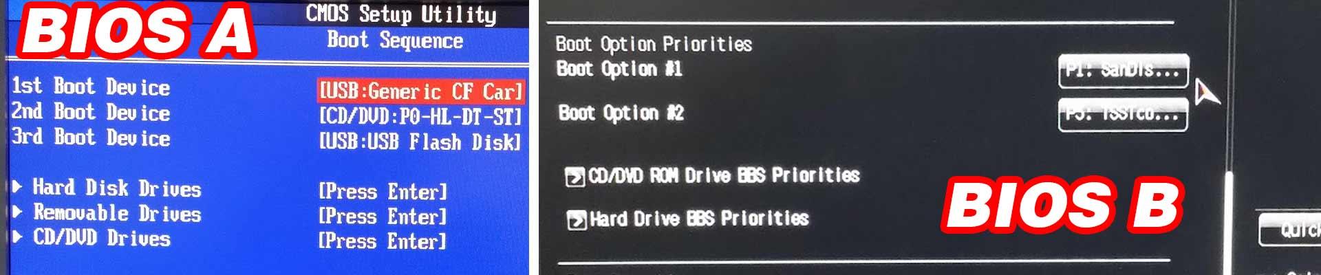 Bios PC. Arranque desde memoria USB. Pendrive de arranque. Configurar Bios