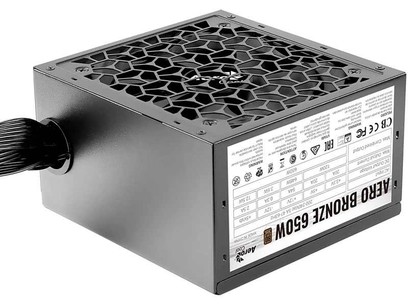 Aerocool Aero Bronze 650W Fuente Alimentación, 80Plus gaming gamer comparativa mejor barata