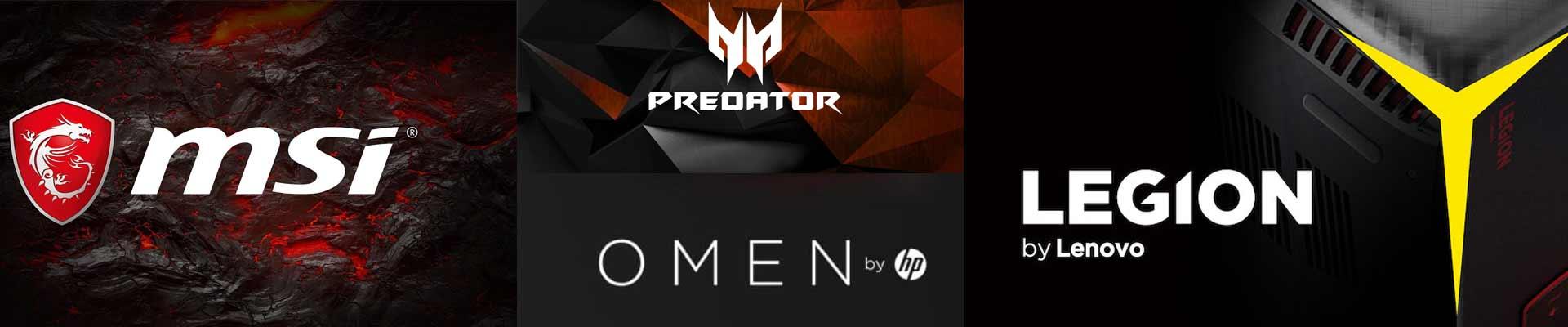 PC Gaming de Marca Comparativa comprar mejores: HP Omen, Lenovo Legion, Acer Predator, Asus Tuff